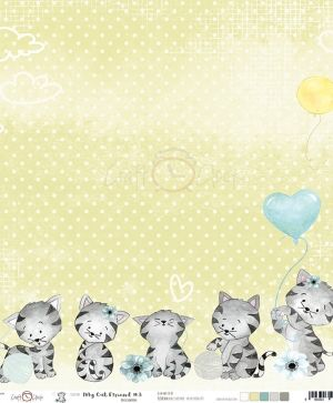 Hartie scrapbooking 30.5x30.5cm - My Cat Friend - 03 CC-PD-MCF-10- 03