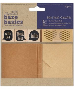 Scrapbooking set - Mini Kraft Card Kit PMA-174773