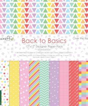 Set cartoane scrapbooking 30,5x30,5cm - Over the rainbow DCPAP118