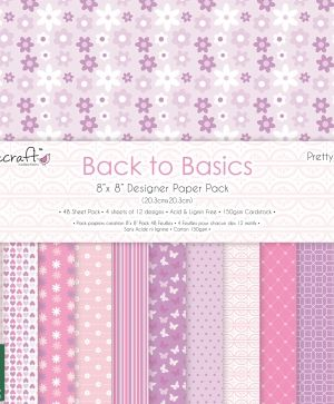 Set cartoane scrapbooking 20,3 х 20,3 cm - Pretty Petals DCPAP122