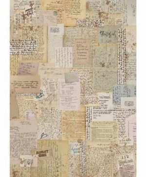 Hartie de orez pentru decoupage A4 - Background notes DFSA4376