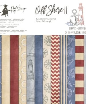 Set cartoane scrapbooking 30,5x30,5cm - Off Shore II P13-299