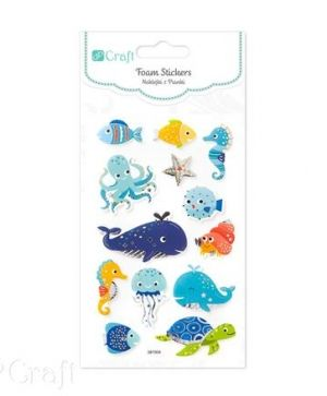 Stickere din foam 13 buc. - Marine animals DPPI-015