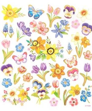 Stickere 35 buc. - Flowers DPNK-097
