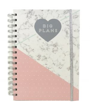 Planner / jurnal - Everyday Marble Big Plans DCPLN009