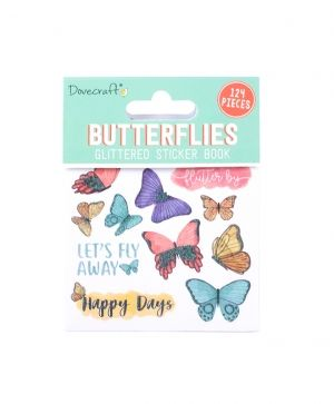 Stickere 124 buc - Butterflies DCSTB001