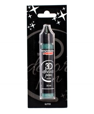 Contur decor 3D 30 ml - argintiu turcoaz P35157