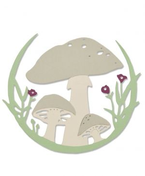 Matrita Sizzix Thinlits - Mushroom Wreath 663420