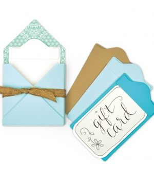 Matrita Sizzix Thinlits - Gift Card Folder & Label 2 663637