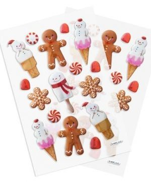 3D Stickere 32 buc.- Gingerbreads DPNP-007