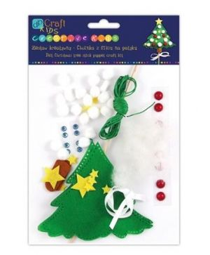 Kit creativ din fetru - Christmas tree stick puppet KSPI-021