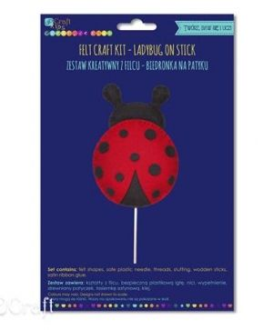 Kit creativ din fetru - Ladybug on stick KSFI-275