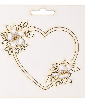 Elemente din carton - Frame heart IDEA1801