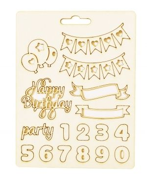 Elemente din carton - Happy birthday IDEA1813