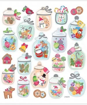 Stickere 22 buc - Christmas moods C28878