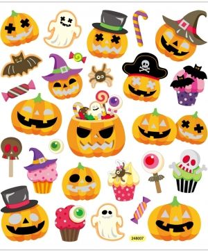 Stickere 28 buc - Halloween pumpkin C28877
