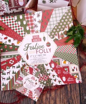 Set cartoane scrapbooking 30,5x30,5cm - Festive Folly PAPAD064X19