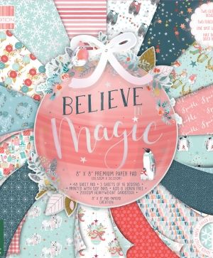 Set cartoane scrapbooking 20,3x20,3cm - Believe In Magic FEPAD216X19