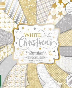 Set cartoane scrapbooking 20,3x20,3cm - White Christmas FEPAD222X19