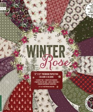 Set cartoane scrapbooking 30,5x30,5cm - Winter Rose FEPAD218X19