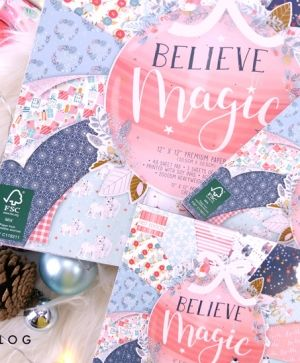 Set cartoane scrapbooking 30,5x30,5cm - Believe In Magic FEPAD215X19