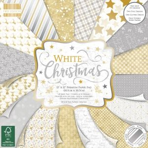 Set cartoane scrapbooking 30,5x30,5cm - White Christmas FEPAD221X19