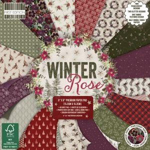 Set cartoane scrapbooking 15,2x15,2cm - Winter rose FEPAD220X19