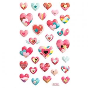 3D Stickere 29 buc.- Hearts DPNP-009