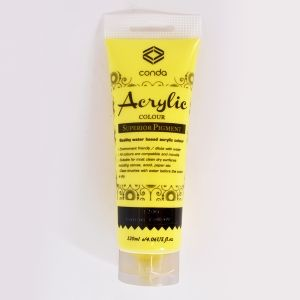 Vopsea acrilică 120ml - lemon yellow A1206