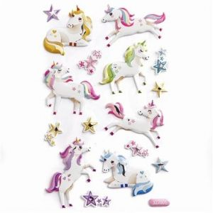 3D Stickere 16 buc.- Unicorns DPNP-010