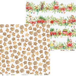 Hartie scrapbooking 30.5x30.5cm - Christmas Treats 02 P13-CHT-02