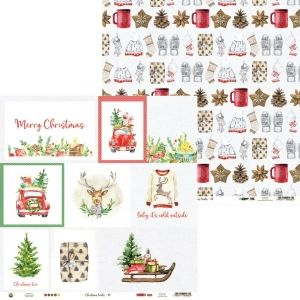 Hartie scrapbooking 30.5x30.5cm - Christmas Treats 05 P13-CHT-05