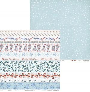 Set cartoane scrapbooking 15,2x15,2cm - North Pole P13-192