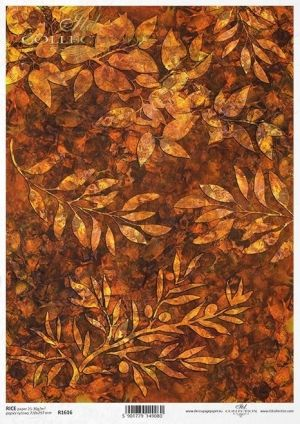 Hartie de orez pentru decoupage A4 - Autumn background ITD-R1616