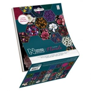 Set cartoane scrapbooking 15,2х15,2 cm, 50 coli - Dark Florals PMA-160419