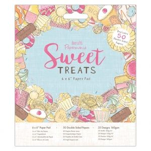 Set cartoane scrapbooking 15,2х15,2 cm, 50 coli - Sweet Treats PMA-160519