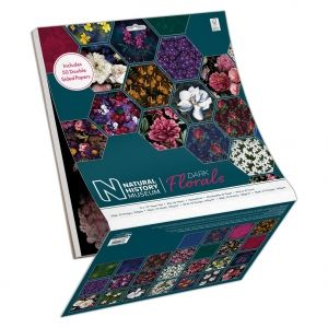 Set cartoane scrapbooking 30,5х30,5 cm, 50 coli - Dark Florals PMA-160418