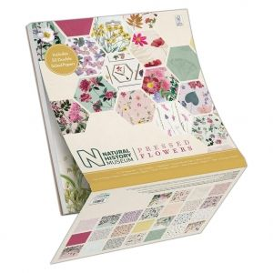 Set cartoane scrapbooking 30,5х30,5 cm, 50 coli - Pressed Flowers PMA-160412