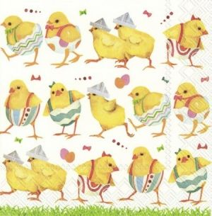 Servețele pentru decupaj 33x33cm, set 20 buc. - CHICKS ON CATWALK L855300