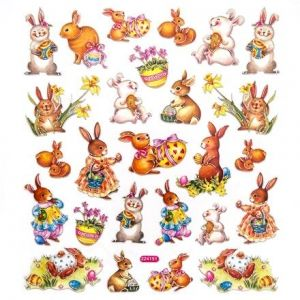 Stickere 26 buc. - Easter bunnies DPNK-016