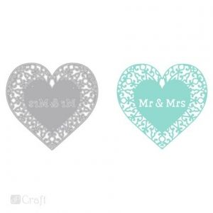 Matrita DP Craft - Openwork heart Mr and Mrs JCMA-079