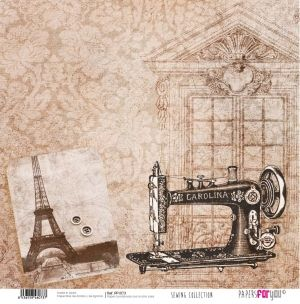 Hartie scrapbooking 30.5x30.5cm - Sewing collection PFY-073