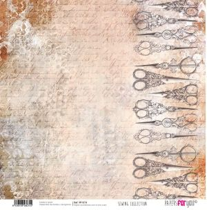 Hartie scrapbooking 30.5x30.5cm - Sewing collection PFY-074