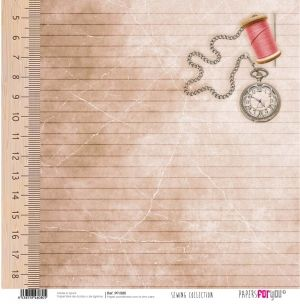 Hartie scrapbooking 30.5x30.5cm - Sewing collection PFY-080