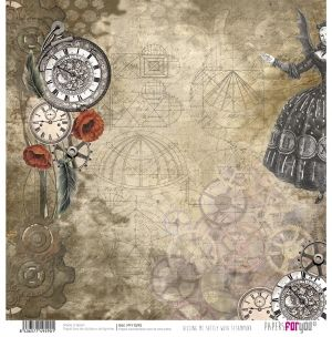 Hartie scrapbooking 30.5x30.5cm - Killing me softly with steampunk PFY-1590