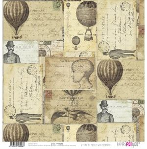Hartie scrapbooking 30.5x30.5cm - Killing me softly with steampunk PFY-1598