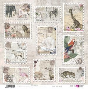 Hartie scrapbooking 30.5x30.5cm - Born to be wild PFY-2249
