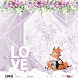 Hartie scrapbooking 30.5x30.5cm - Love is in the air PFY-2409