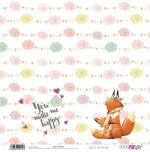Hartie scrapbooking 30.5x30.5cm - Love is in the air PFY-2414