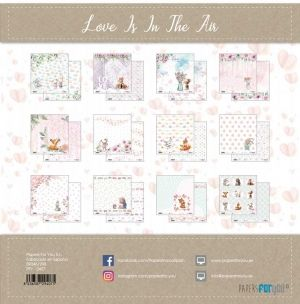 Set cartoane scrapbooking 30,5х30,5cm - Love is in the air PFY-2407